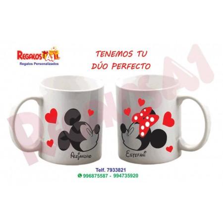 Dúo Tazas Mickey y Minnie