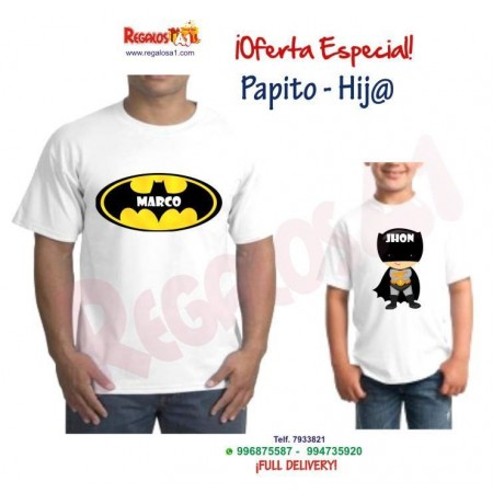 Polo Padre e Hijo Batman. Mod 3
